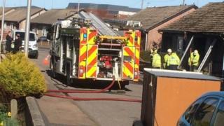 Firefighters in Peterhead