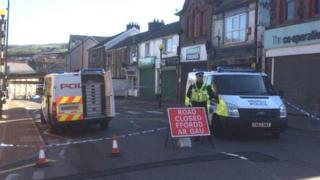 De Winton Street has been closed off