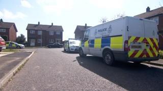 Police in Farrow Close, Leiston