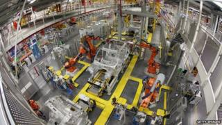 UK car production line