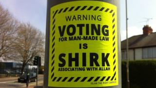 Poster in Leicester