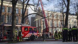 The fire at the British Embassy in the Hague