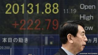 Nikkei indicator board