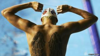 Amaury Leveaux of France prepares to swim during an open swimming training session during the XII FINA World Championships at the Rod Laver Arena on 22 March 2007 in Melbourne, Australia.