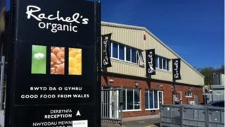 Rachel's Dairy factory on Glanyrafon Industrial Estate