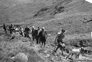 Pennine Way 1965 opening, Peak District