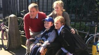 Matthew McGrath and his family