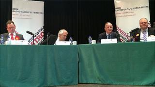 Ed Buxton (left), Alistair Cameron, Laurence Robertson and Stuart Adair