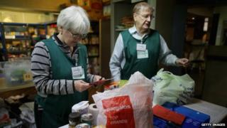 Trussell Trust food bank in Rochdale