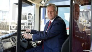 Peter Robinson on Routemaster bus