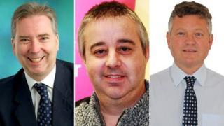 Left to right: Chris Whiteside; Steve Gibbons; Mike Starkie