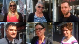 Composite image of Newport residents (clockwise from top left: Natalie Hicks, Mrs Wilkinson, Peter Vale, Lindsay Rushworth, Katrina Wilkinson and Phil Gittus)