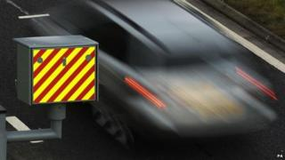 Speed camera and car