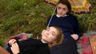 Maisie Williams and Florence Pugh in The Falling