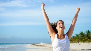 Smiling sporty woman