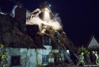 Langham cottage fire