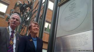 Commemorative stone for Major Richard Willis