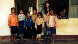 A primary school in Hua Pan Village