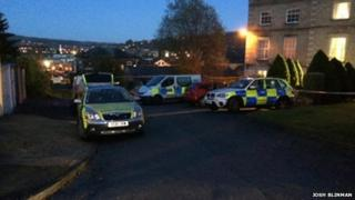Scene of body found in Keighley