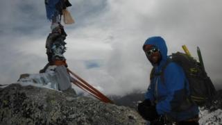 Gareth Douglas climbing