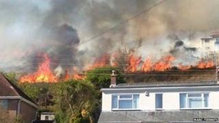 Fire in Burry Port, Llanelli