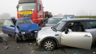 Car crash in Belgium - file pic