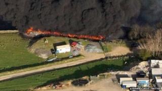 Fire in Ynyshir, Rhondda Cynon Taff
