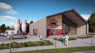 CGI of proposed new Innis and Gunn brewery