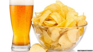 Beer and crisps