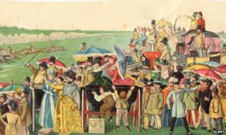 Race-goers 1800s