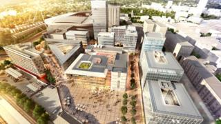 Artist's impression of the new site in Cardiff