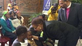 Former first lady Graca Machel has arrived at the memorial service of fellow Mozambican Manuel Josias killed in Xenophobic attacks.