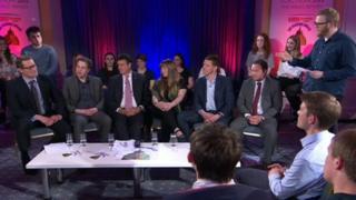 Members of six parties took part in the debate
