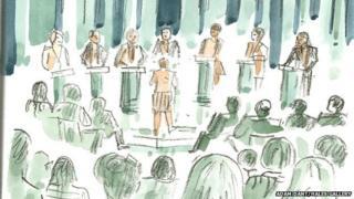 Sketch of televised leaders' debate