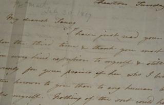 Letter from Jane Austen