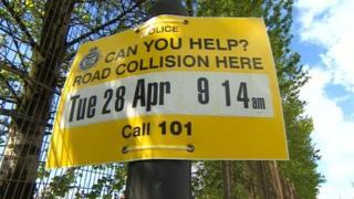 Sign on Kings Weston Lane