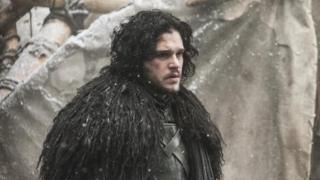 English actor Kit Harington, portraying his character Jon Snow in Game of Thrones