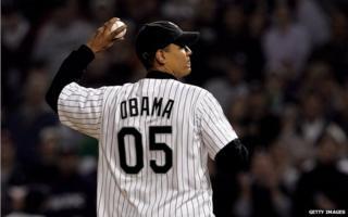 Obama at Chicago White Sox game