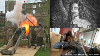 Cannon, King Charles I, re-enactor