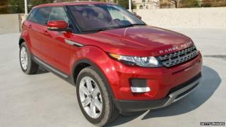 Red Range Rover Evoque (illustration purposes)
