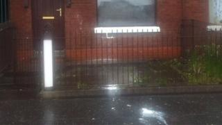 Paint was thrown at the house in Roden Street