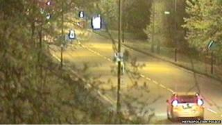 CCTV images of a vehicle police want to trace