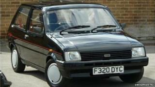 The stolen F reg Mini Metro belonging to the Arnold family