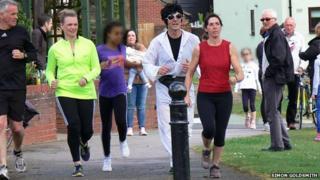 Simon Goldsmith Elvis marathon at Martlesham Heath