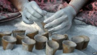 An Indian workers at a fireworks factory (File photo)