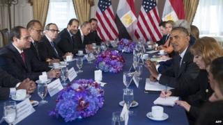 Meeting between President Obama and General Sisi