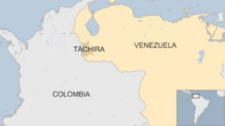 May showing Tachira state in Venezuela