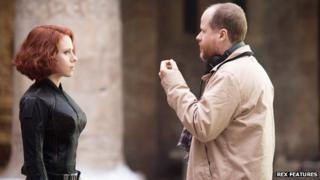 Scarlett Johansson and Joss Whedon