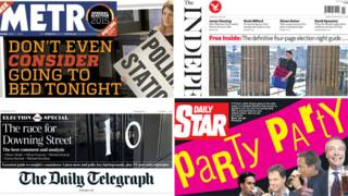 Metro/Independent/Telegraph/Star front pages