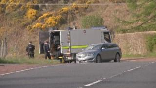 The device was found on the Barracric Road in Newry on Thursday